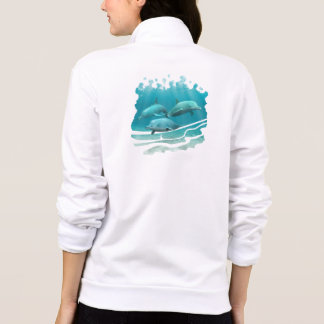 Swimming Dolphins Printed Jacket