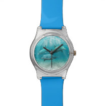 Swimming Dolphins Wrist Watch