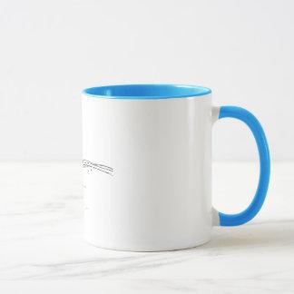 Swimming Duck Blue and White Coffee Mug