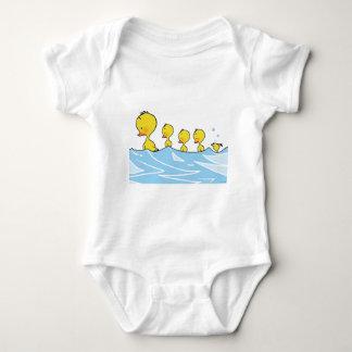 Swimming duck family baby bodysuit