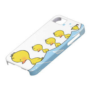 Swimming duck family iPhone 5 cases