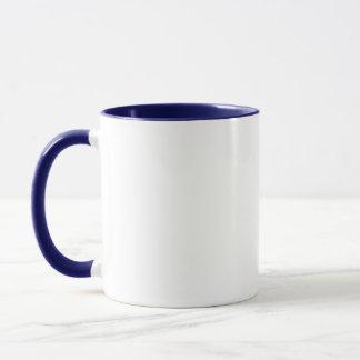 swimming duck ringer ceramic mug