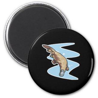 swimming duckbilled platypus magnet