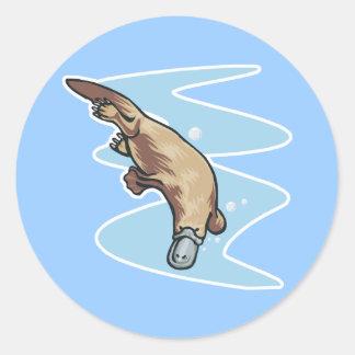 swimming duckbilled platypus sticker