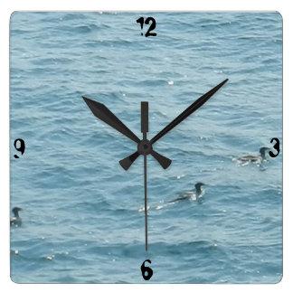 SWIMMING DUCKS clock