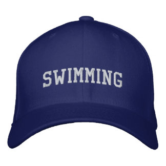 Swimming Embroidered Baseball Hat