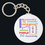 "Swimming Everywhere Keychain<br><div class=""desc"">All of your favorite swimming strokes on one gift.  Backstroke,  breaststroke,  freestyle,  breaststroke,  and even IM.   Buy this cool gift for your favorite swimmer!</div>"