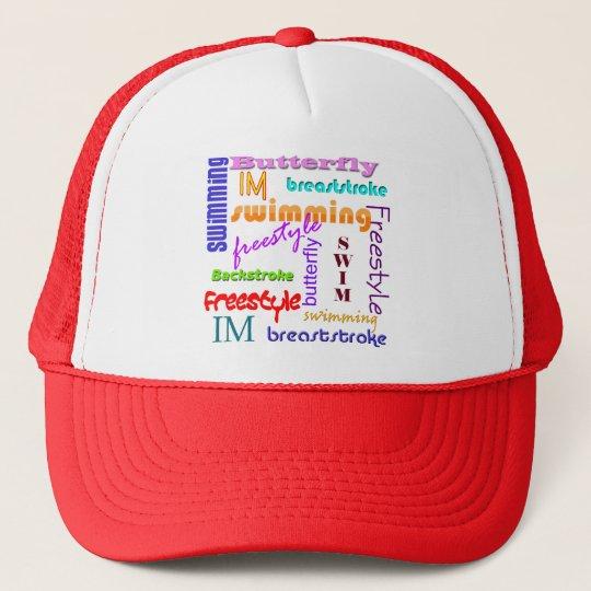 Swimming Everywhere Trucker Hat
