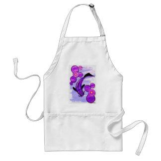Swimming fish apron