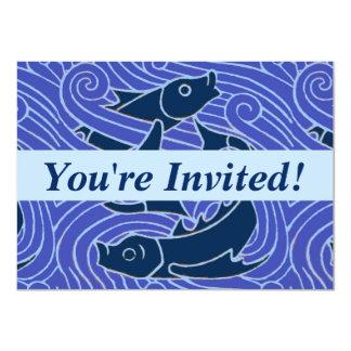 Swimming Fish Blue Graphic Card