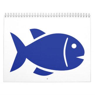 Swimming fish wall calendars