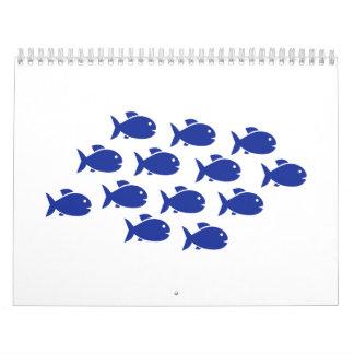 Swimming fish calendar