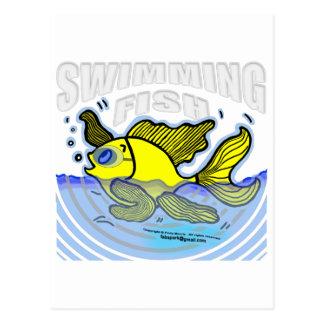 Swimming Fish Postcard
