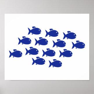 Swimming fish poster