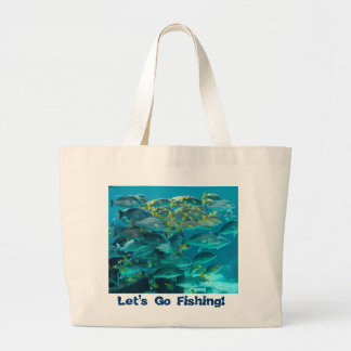 Swimming Fish Tote Canvas Bags