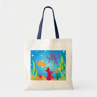 Swimming fishes tote bag