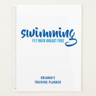 Swimming Fly Back Breast Free SwimTraining Planner