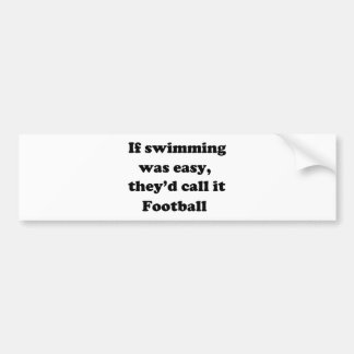 Swimming Football Bumper Sticker