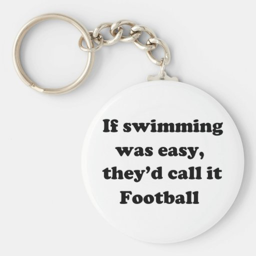 Swimming Football Keychains