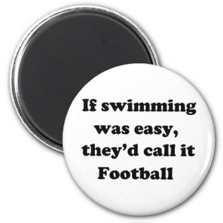 Swimming Football Magnet