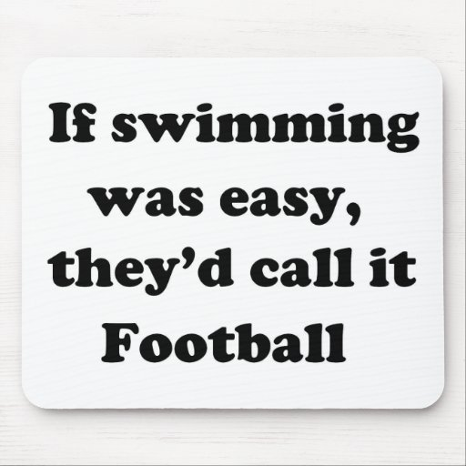 Swimming Football Mouse Pad