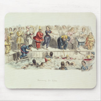 Swimming for Ladies, 1844 (litho) Mouse Pad
