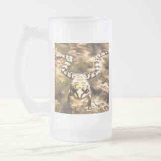 Swimming Frog Frosted Glass Beer Mug