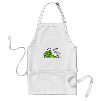 Swimming Froggie Boy Adult Apron