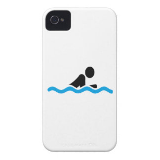 swimming iPhone 4 Case-Mate protectores