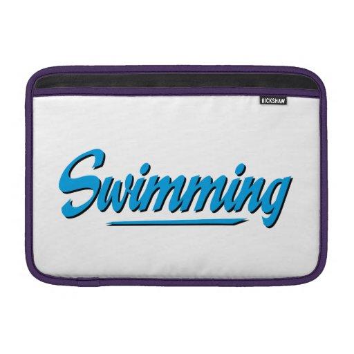 swimming funda para macbook air