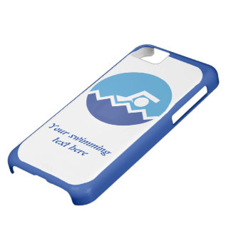 Swimming gifts, swimmer on a blue circle custom cover for iPhone 5C