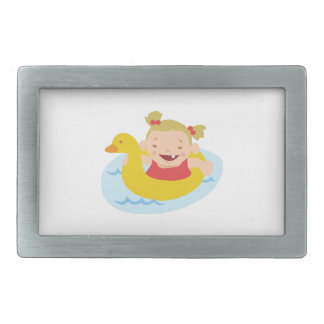 Swimming Girl Rectangular Belt Buckles