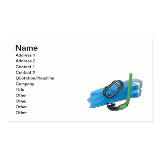 Swimming Goggles Snorkel Fins Business Card