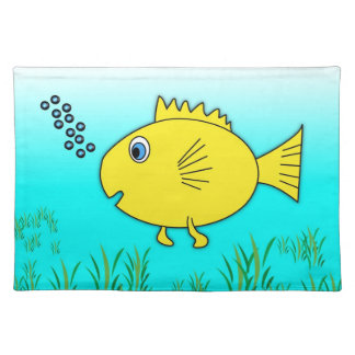 Swimming Goldfish Cloth Placemat