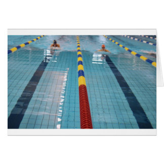 swimming greeting card
