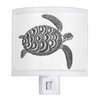 Swimming Hawksbill Sea Turtle Night Light