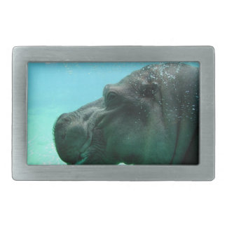 Swimming Hippo Buckle Rectangular Belt Buckle