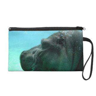 Swimming Hippo Wristlet