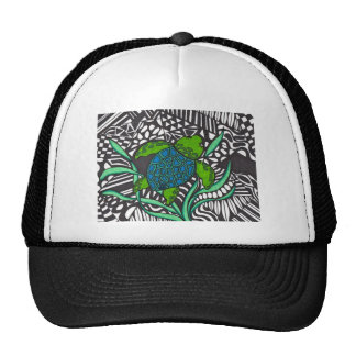Swimming Honu sea turtle seaweed hat