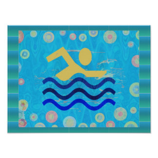 Swimming:  Hot Times Cool Mind Print
