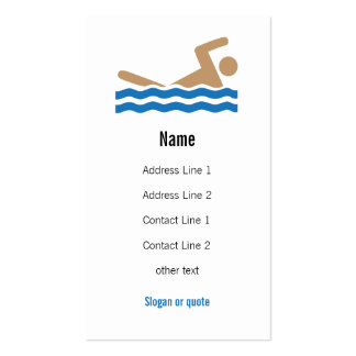 Swimming Icon Business Card
