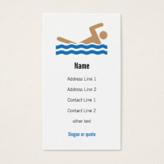 Swimming Icon Business Card at Zazzle