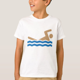 Swimming icon pictograph in color T-Shirt