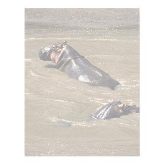 Swimming in the hippo pool letterhead design