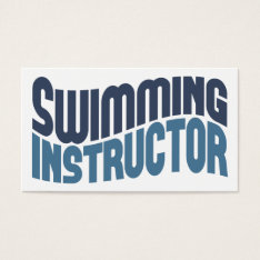Swimming Instructor Business Cards at Zazzle