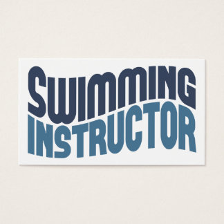 Swimming Instructor Business Cards