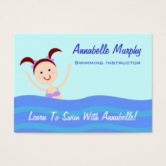 Swimming Instructor/Coach Business Card