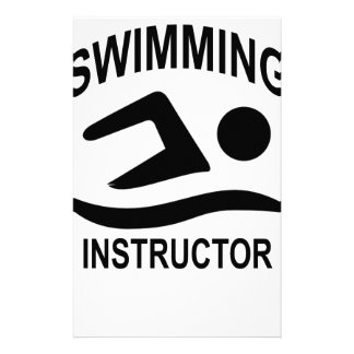 Swimming Instructor T Shirt.png Stationery
