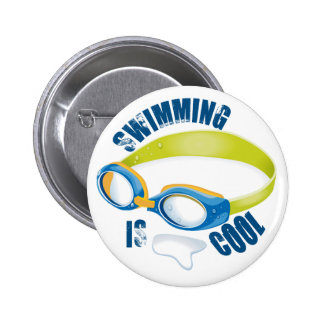SWIMMING IS COOL BUTTON