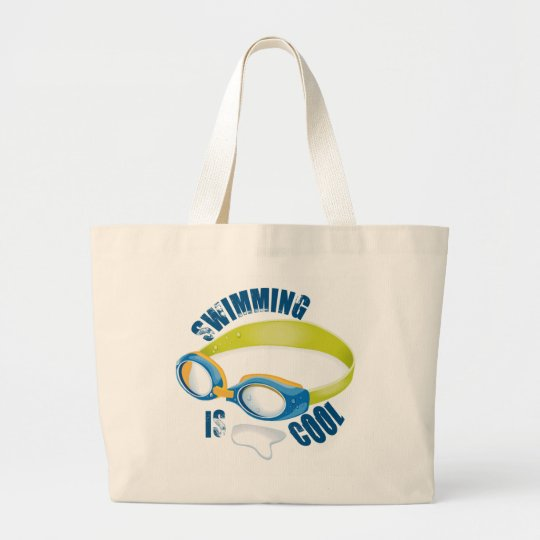 SWIMMING IS COOL LARGE TOTE BAG